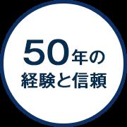 50年の経験と信頼